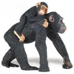 chimpanzee with baby toy miniature safari
