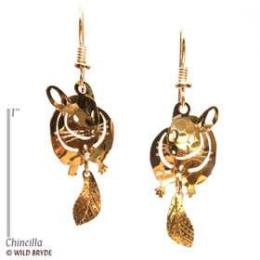 chinchilla earrings gold french curve usa