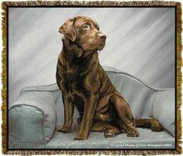 chocolate labrador retriever blanket throw tapestry afghan
