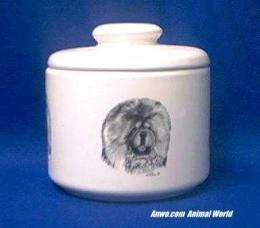 chow chow jar porcelain