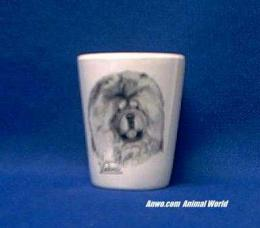 chow chow shot glass