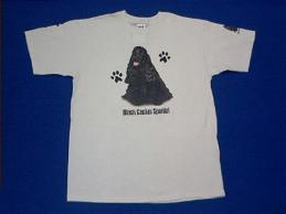 cocker spaniel black t shirt