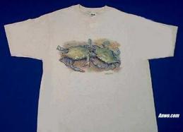 crab t shirt printed in usa
