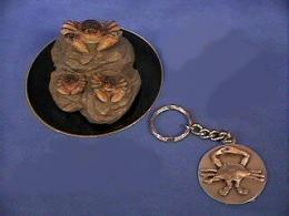 crab figurine keychain