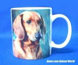 dachshund mug porcelain