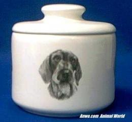 dachshund wirehair jar porcelain
