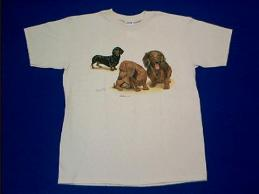 dachshund collage t shirt