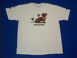 dachshund red t shirt