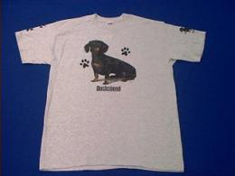 dachshund t shirt black tan