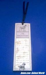 dalmatian bookmark pewter pin
