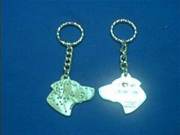 dalmatian keychain pewter