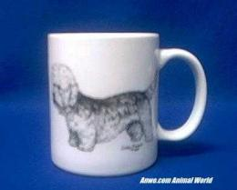 dandie dinmont terrier mug porcelain