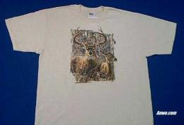 deer buck t shirt printed in usa
