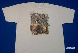 deer buck t shirt printed in usa