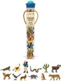 desert animals toy tube