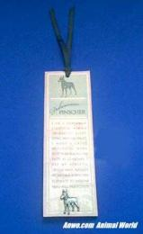 doberman pinscher bookmark pewter pin