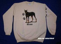 doberman pinscher sweatshirt usa