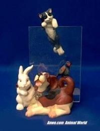 dog cat rabbit picture frame