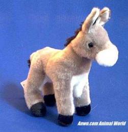 donkey plush stuffed animal small