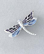 blue dragonfly jewelry pin
