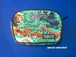 elephant tiger lion zipper bag