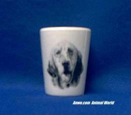 english setter shot glass