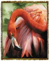 flamingo blanket throw tapestry