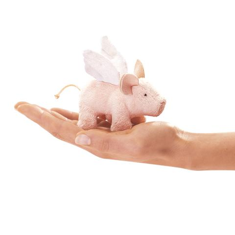 Flying Pig Finger Puppet