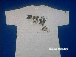 fox terrier t shirt ash