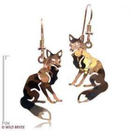 fox earrings gold french curve usa