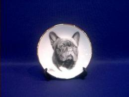 french bulldog plate