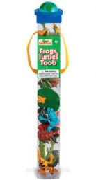 frogs turtles toy tube safari