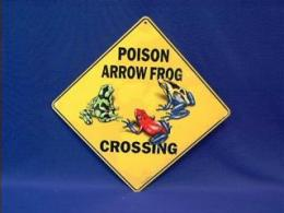 poison frog crossing sign