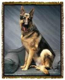 german shepherd blanket throw tapestry afghan