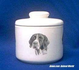 german shorthair pointer jar porcelain