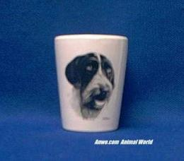 german wirehair pointer shot glass