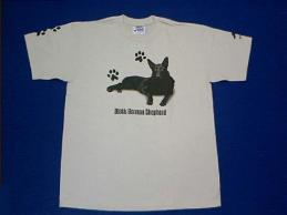 german shepherd black t shirt