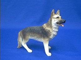 german shepherd sandicast figurine