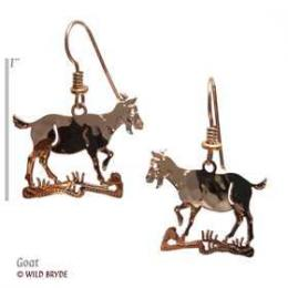 goat earrings gold french curve usa