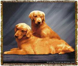 golden retriever blanket throw tapestry afghan