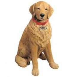 golden retriever figurine lifesize sandicast