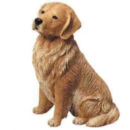 golden retriever figurine sandicast sitting original os351