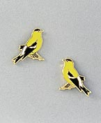 goldfinch bird jewelry earrings