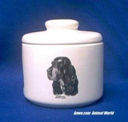 gordon setter jar porcelain