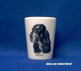 gordon setter shot glass