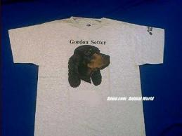 gordon setter t shirt face
