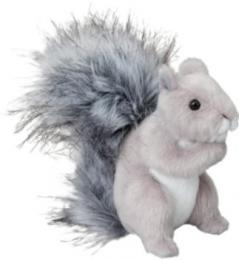 gray squirrel plush stuffed animal shasta