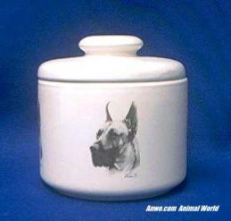 great dane jar porcelain candy