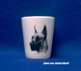 great dane shot glass