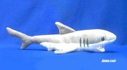 great white shark plush stuffed toy